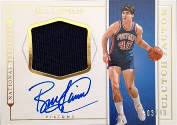 2015-16 Panini National Treasures Clutch Factor Jersey Autographs #36 Bill Laimbeer/49
