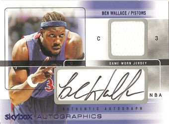 2004-05 SkyBox Autographics Autographs Jerseys 100 #BW Ben Wallace