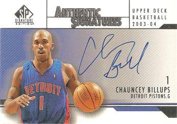 2003-04 SP Signature Edition Signatures #CB Chauncey Billups