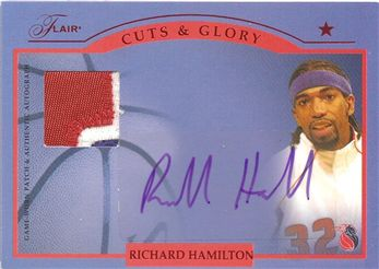 2004-05 Flair Cuts and Glory Patches #RH Richard Hamilton