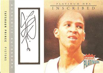 2003-04 Fleer Platinum Inscribed #TP Tayshaun Prince/185