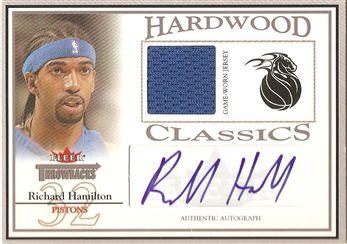 2004-05 Fleer Throwbacks Hardwood Classics Jerseys Autographs Silver #RH Richard Hamilton/149