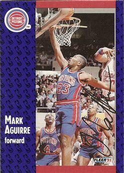 1991-92 Fleer #57 Mark Aguirre TTM
