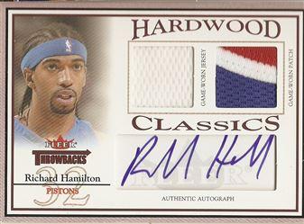 2004-05 Fleer Throwbacks Hardwood Classics Jerseys Autographs Numbers #RH Richard Hamilton/32