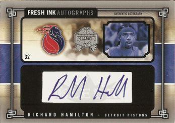 2004-05 SkyBox Fresh Ink Autographs 99 #RH Richard Hamilton AU #/99
