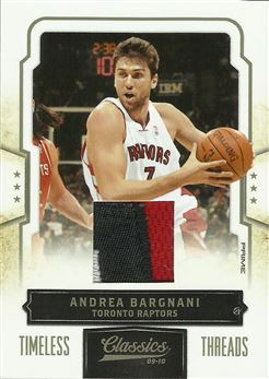 2009-10 Classics Timeless Threads Prime #15 Andrea Bargnani/10
