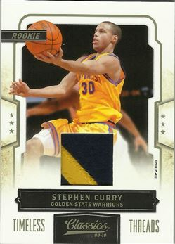 2009-10 Classics Timeless Threads Prime #166 Stephen Curry/25