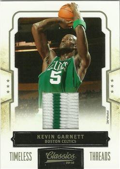 2009-10 Classics Timeless Threads Prime #1 Kevin Garnett/25