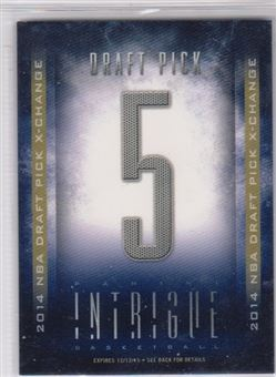 2013-14 Panini Intrigue '14 Draft X-Change #5 Dante Exum/Pick 5 EXCH