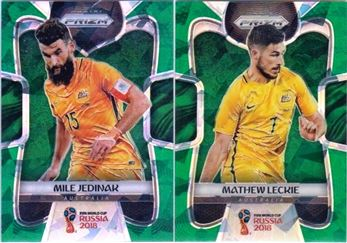2018 Panini Prizm World Cup 17 Parallel Green Crystals 25