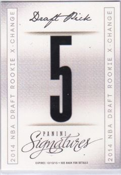 2013-14 Panini Signatures '14 Draft X-Change #5 Dante Exum/Pick 5 Redemption