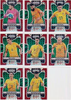 2018 Panini Prizm World Cup 09 Parallel Red Mosaic