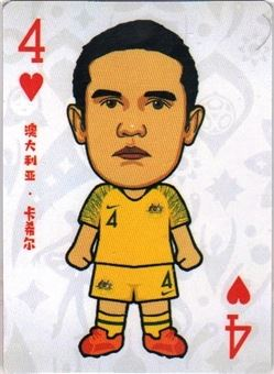 2018 Caricature Poker Football Cards World Cup #B42 Tim Cahill