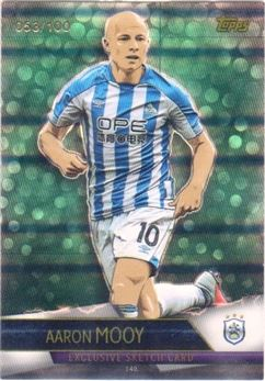 2018-19 Topps Match Attax Ultimate Parallel Green #140 Aaron Mooy Sketch Card