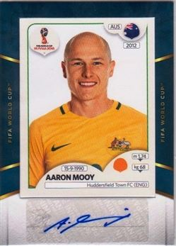 2018-19 Panini Treble World Cup Sticker Signatures #WC-AAM Aaron Mooy