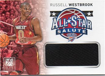 2012-13 Elite All-Star Salute Materials #10 Russell Westbrook