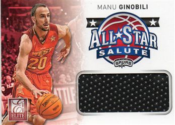 2012-13 Elite All-Star Salute Materials #15 Manu Ginobili