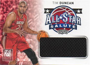 2012-13 Elite All-Star Salute Materials #17 Tim Duncan