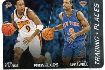2014-15 Hoops Trading Places #4 Latrell Sprewell