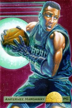 1993 Classic Chromium Jumbos #4 A.Hardaway BK draft Illust.