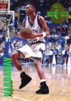 1993 Classic Chromium Jumbos #6 A.Hardaway 4-Sport LPs
