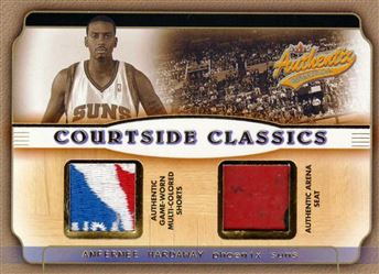 2001-02 Fleer Authentix Courtside Classics Memorabilia Multiple Color #AH Anfernee Hardaway
