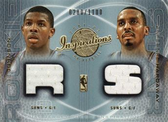 2001-02 Upper Deck Inspirations #127 Anfernee Hardaway JSY/Joe Johnson JSY RC