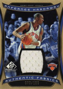2004-05 SP Game Used Authentic Fabrics Gold #AH Anfernee Hardaway