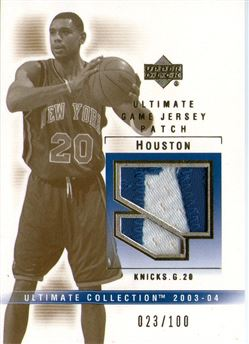 2003-04 Ultimate Collection Patches #AH Allan Houston