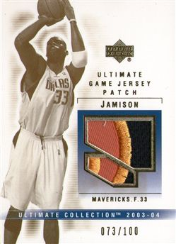 2003-04 Ultimate Collection Patches #AJ Antawn Jamison