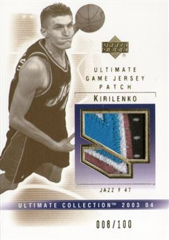 2003-04 Ultimate Collection Patches #AK Andrei Kirilenko