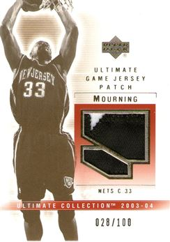 2003-04 Ultimate Collection Patches #AL Alonzo Mourning