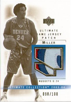 2003-04 Ultimate Collection Patches #AM Andre Miller