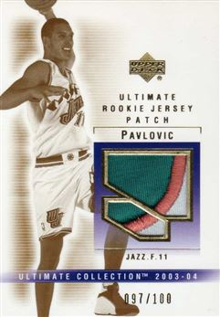 2003-04 Ultimate Collection Patches #AP Aleksandar Pavlovic