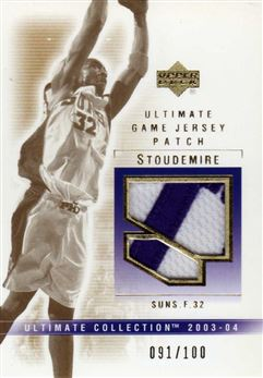 2003-04 Ultimate Collection Patches #AS Amare Stoudemire