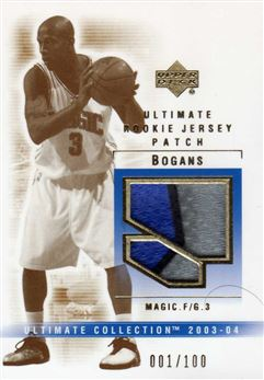 2003-04 Ultimate Collection Patches #BG Keith Bogans