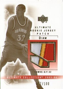 2003-04 Ultimate Collection Patches #BO Boris Diaw