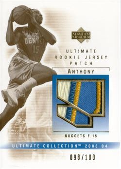 2003-04 Ultimate Collection Patches #CA Carmelo Anthony