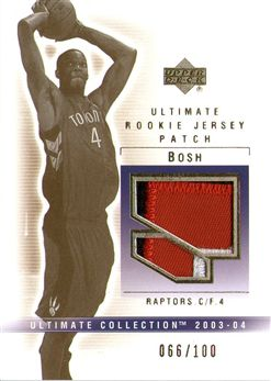2003-04 Ultimate Collection Patches #CH Chris Bosh