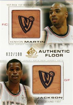 2000-01 SP Game Floor Authentic Floor Combos Gold #C10 Kenyon Martin/Stephen Jackson /100 $20.00 Nets