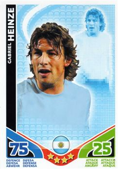 2010 Topps Match Attax World Cup #5 Gabriel Heinze Argentina