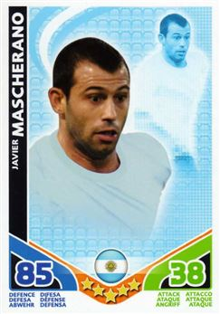 2010 Topps Match Attax World Cup #8 Javier Mascherano Argentina