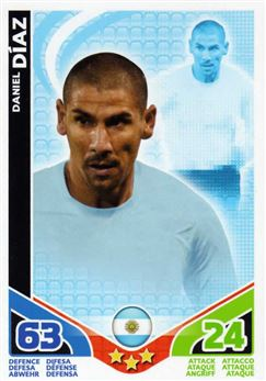 2010 Topps Match Attax World Cup #3 Daniel Diaz Argentina