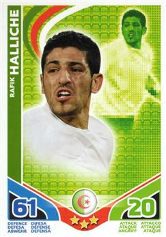 2010 Topps Match Attax World Cup #15 Rafik Halliche Algerie