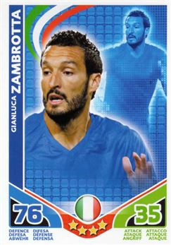 2010 Topps Match Attax World Cup #134 Gianluca Zambrotta Italia