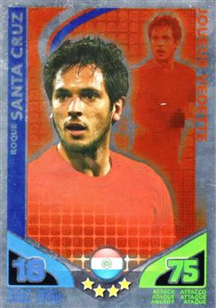 2010 Topps Match Attax World Cup #181 Roque Santa Cruz/Star Player Paraguay