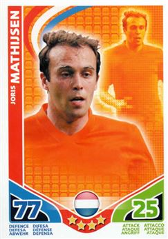 2010 Topps Match Attax World Cup #119 Joris Mathisjsen Netherlands