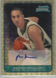 2006-07 Bowman Chrome Superfractor Ryan Hollins AU /1 137