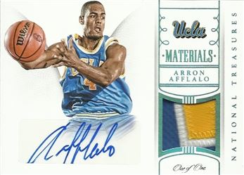ad9c35d65 2015 Panini National Treasures Collegiate Multisport Materials Signatures  Blue  34 Arron Afflalo  ed 1 1