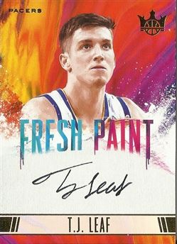 Leaf T.J. - 2017-18 Court Kings Fresh Paint Autographs II #18 T.J. Leaf  #ed 180/200